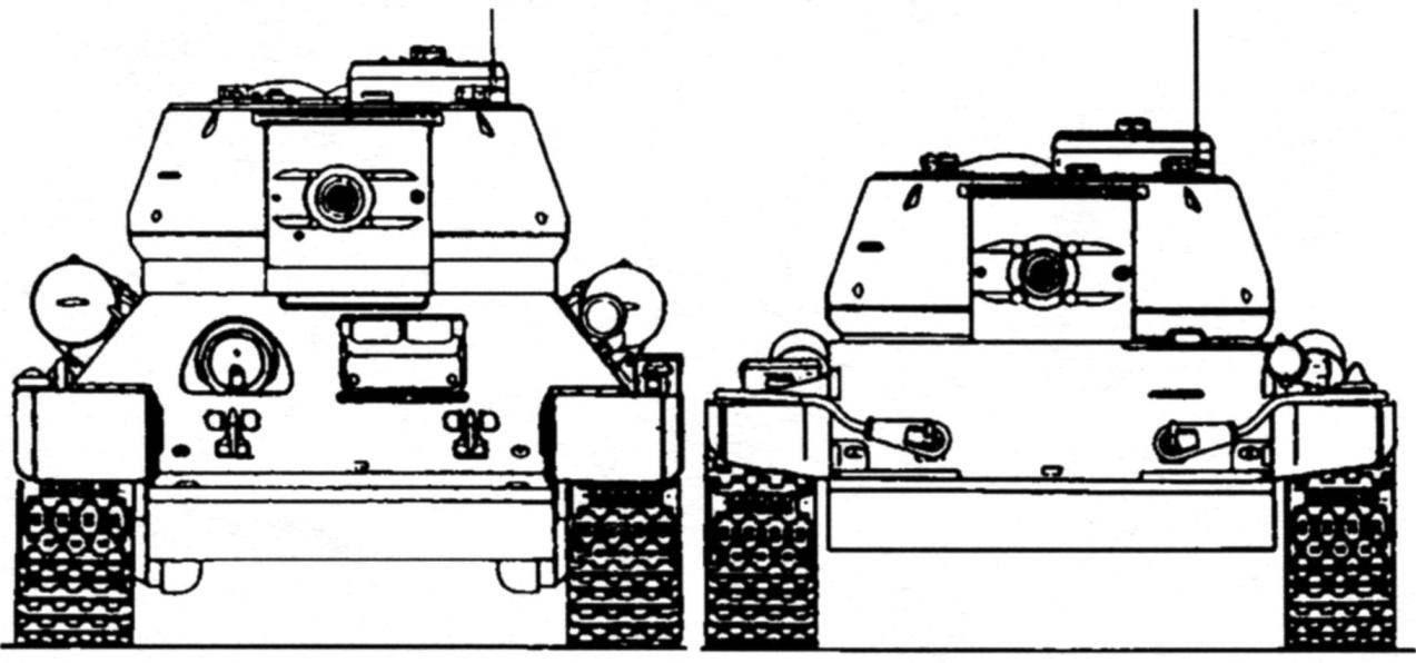Танки Т-34 и Т-44. Вид спереди