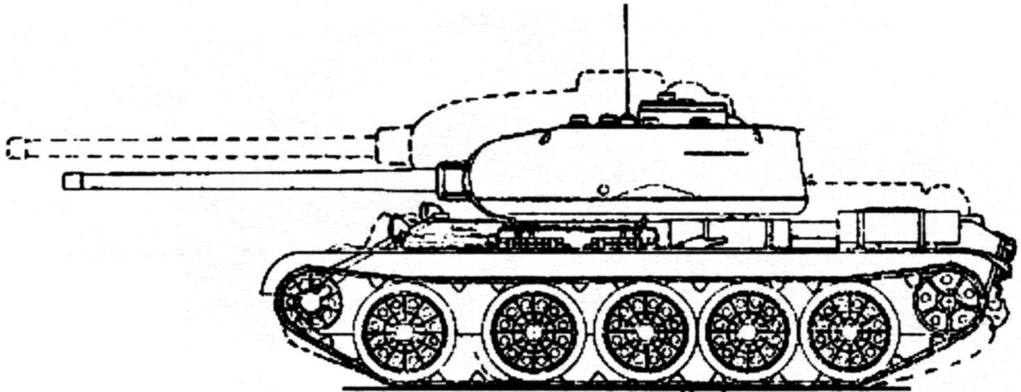 Сравнение танка Т-34-85 и танка Т-44