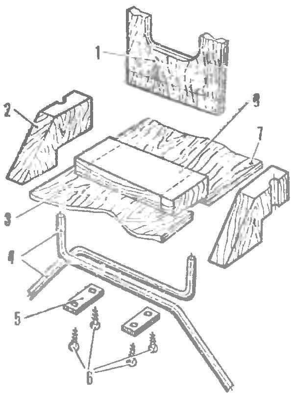 Р и с. 4. Крепление основных стоек шасси