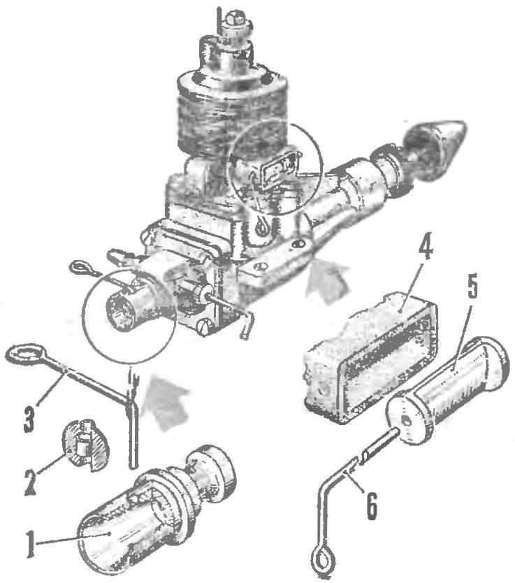 Рис. 2. Конструкция упрощенного управляемого дросселя всасывания и дросселя выхлопа