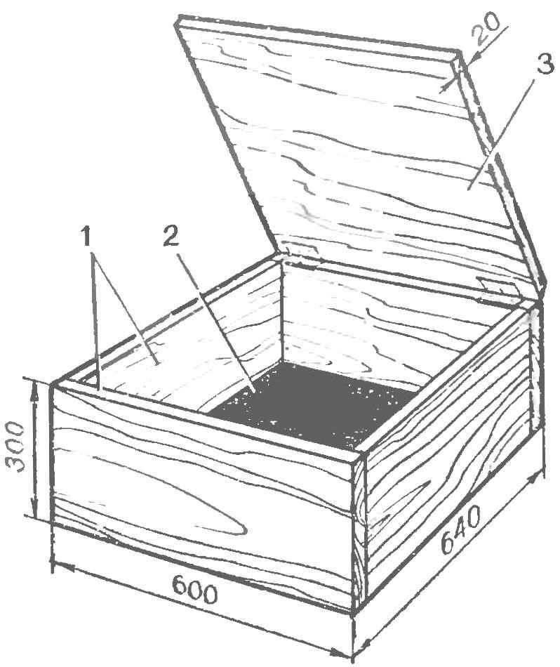 Ящик кресла