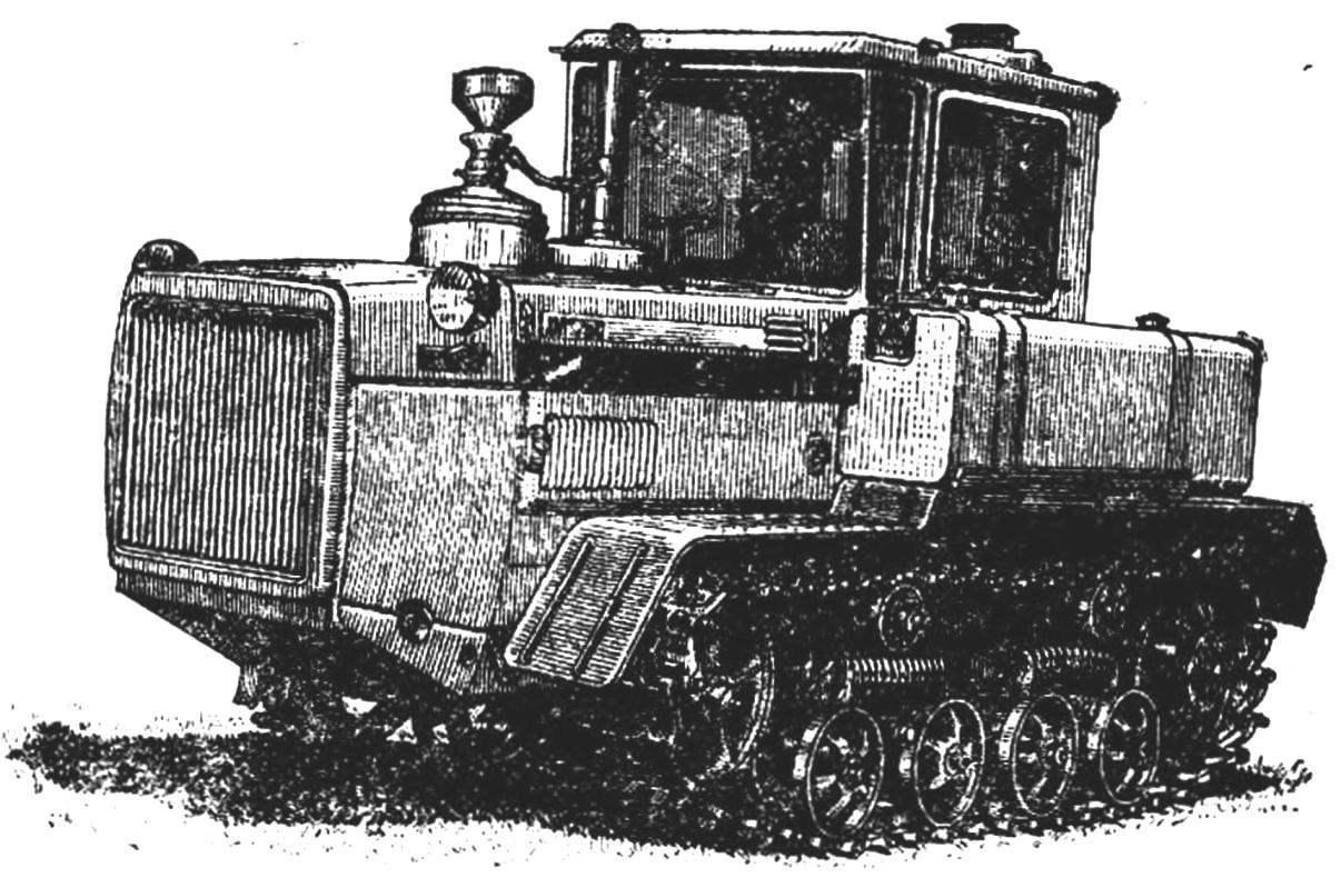 Гусеничный трактор ДТ-75С.