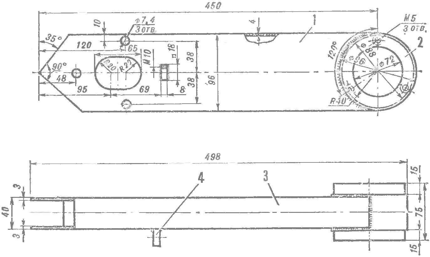 Fig. 4. Box transmission with the clip of the working shaft