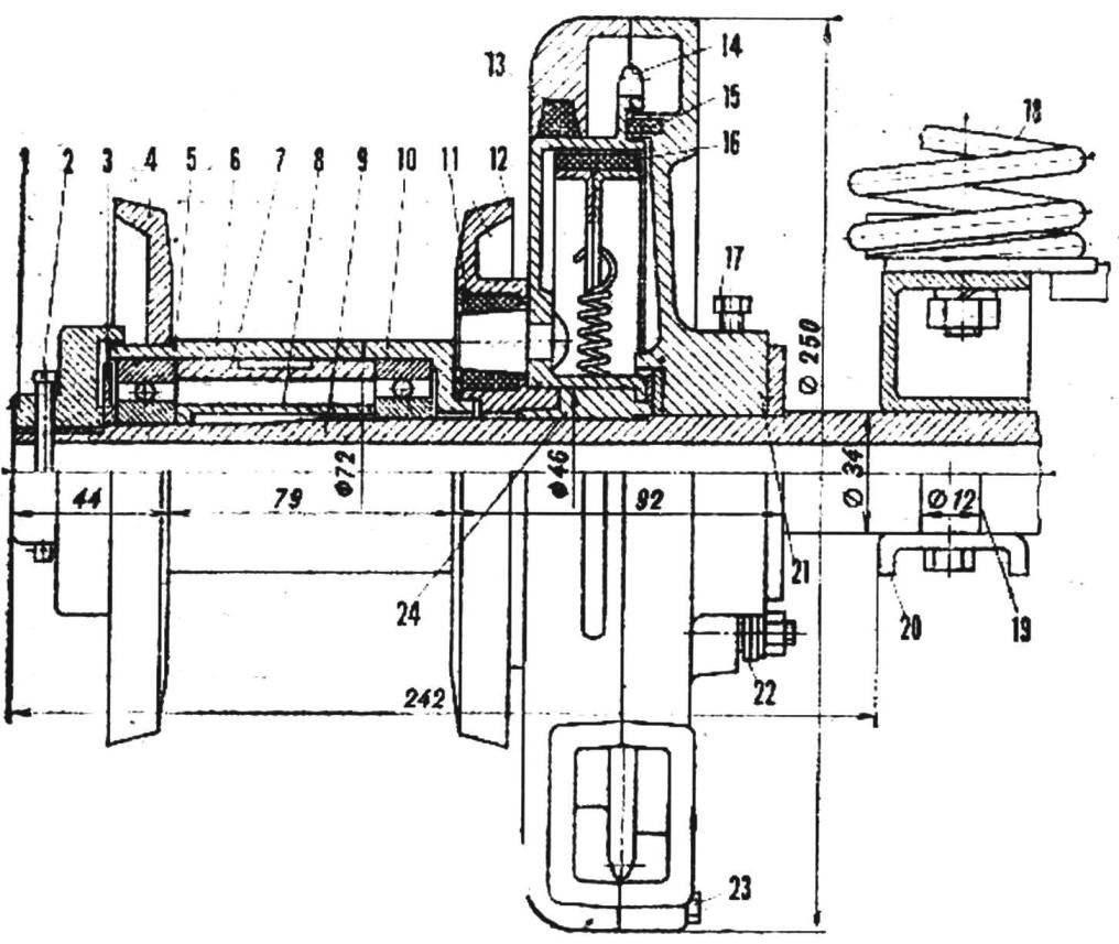 Рис. 3. Привод заднего колеса