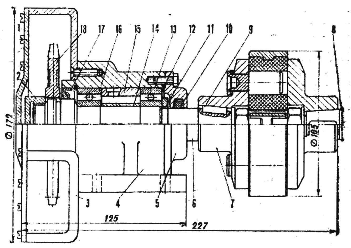 Fig. 4. Clutch shaft and sprocket
