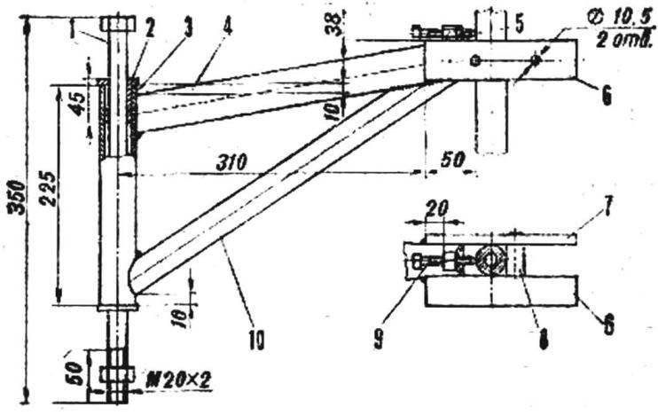 Fig. 6. Suspension axis of the rear wheels