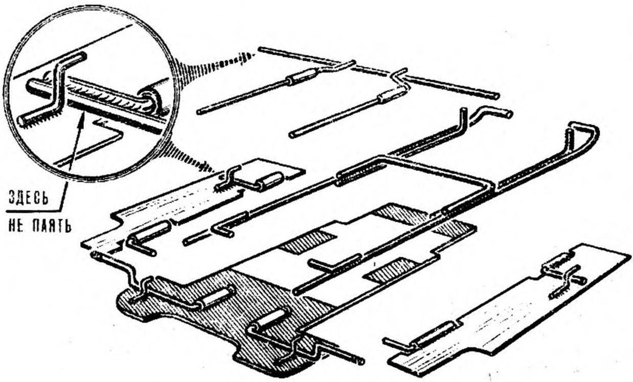 Рис. 1. Схема сборки шасси.