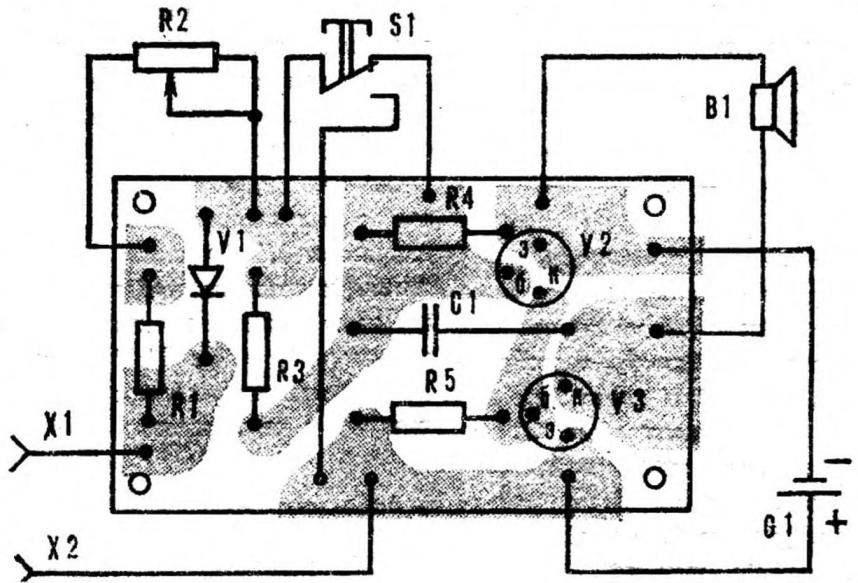 Рис. 3. Монтажная схема аппарата.