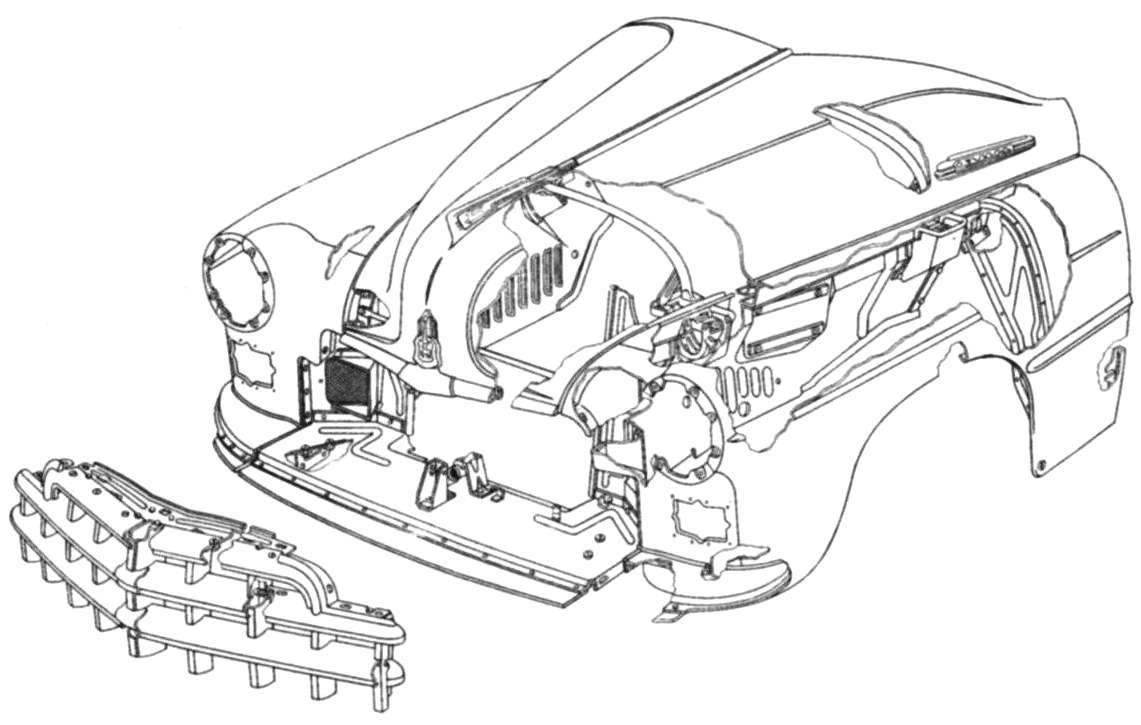 Оперение автомобиля ГАЗ-12 (ЗИМ)