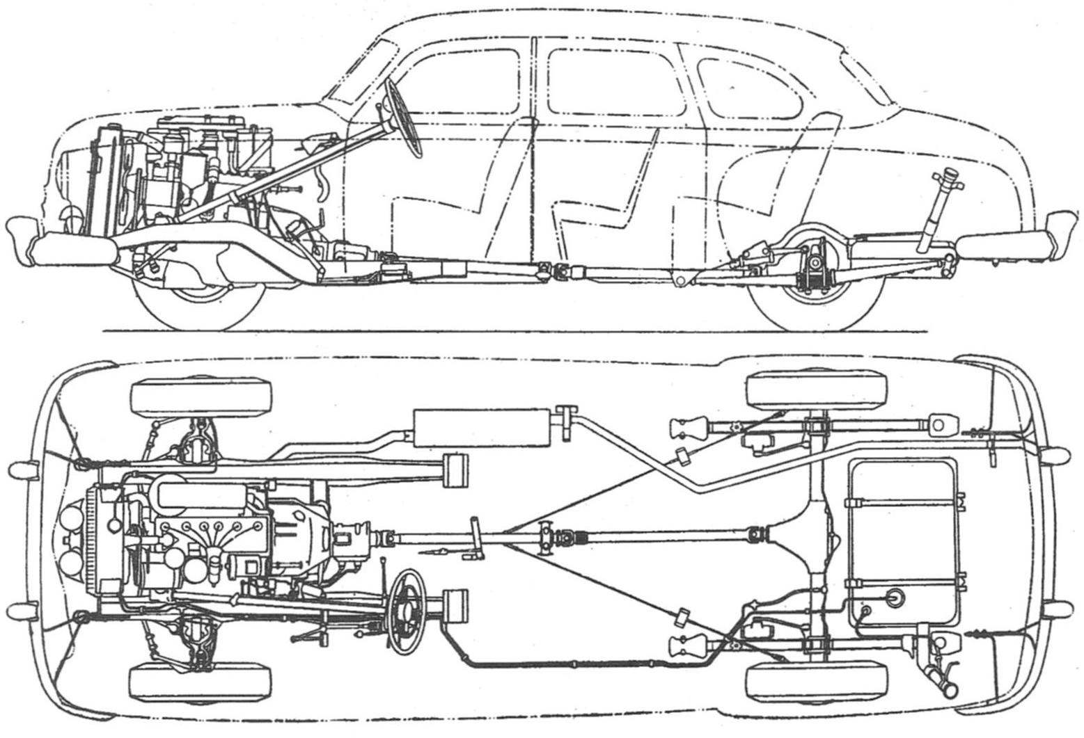 The chassis of the car GAZ-12 (ZIM)