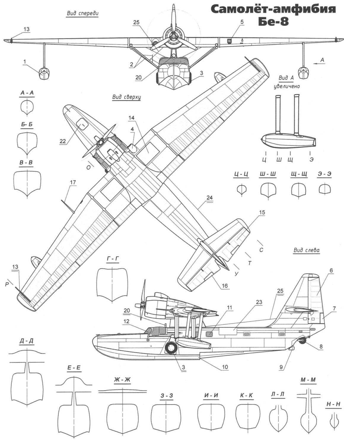 Самолёт-амфибия Бе-8