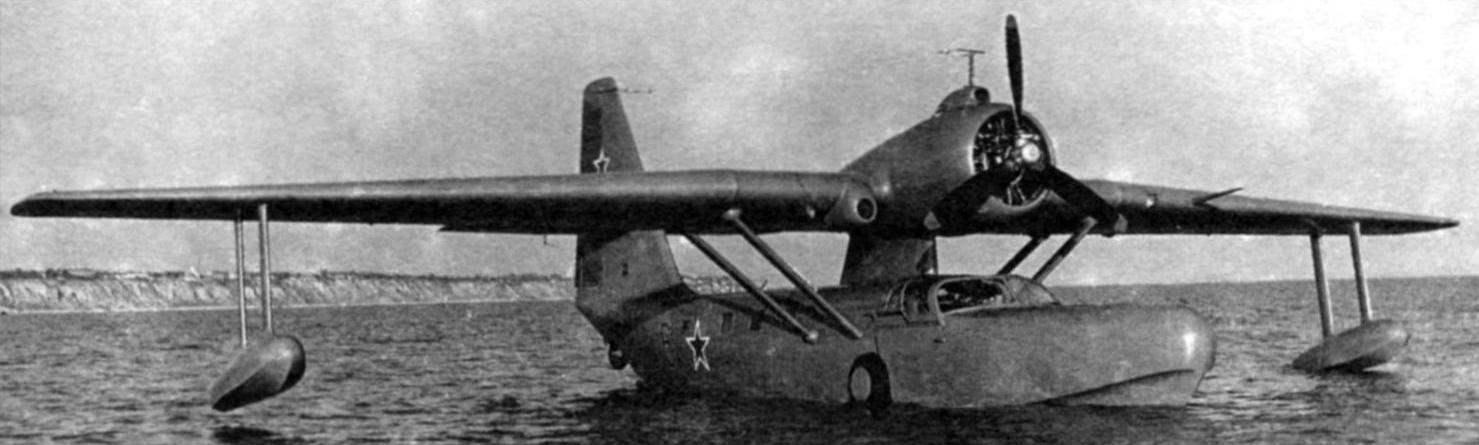 Амфибия Бе-8 на плаву