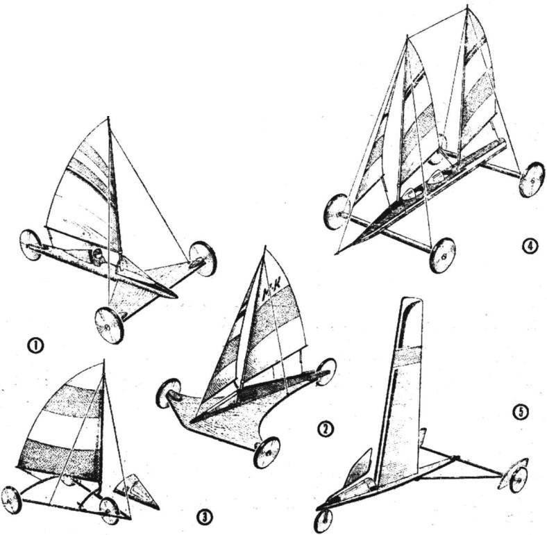 Возможные конструкции моделей колесных яхт