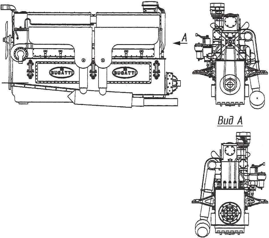 Внешний вид 8-цилиндрового 260-сильного мотора для автомобилей «королевской» серии