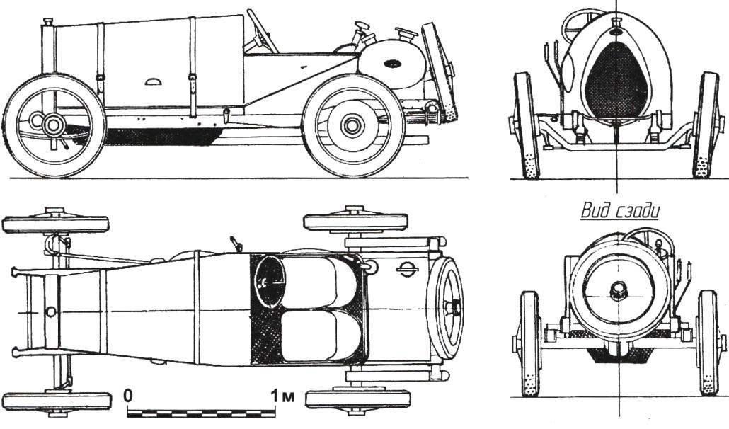 Bugatti Type 13 — первый серийный гоночный автомобиль предприятия Этторе Бугатти (1911 г.)