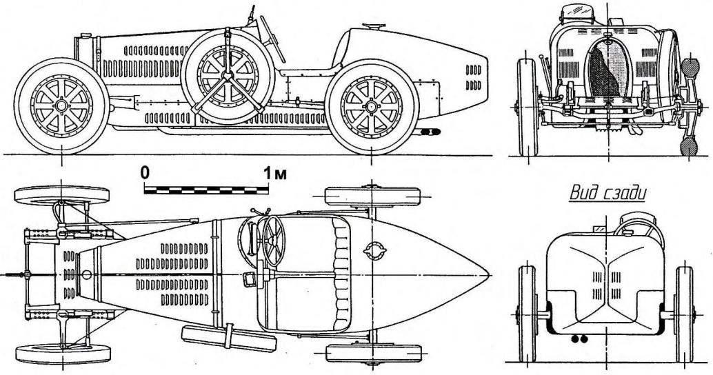 Bugatti Туре 35 — легендарный гоночный автомобиль выпуска 1924 года, завоевавший свыше 1800 побед в европейских и мировых первенствах