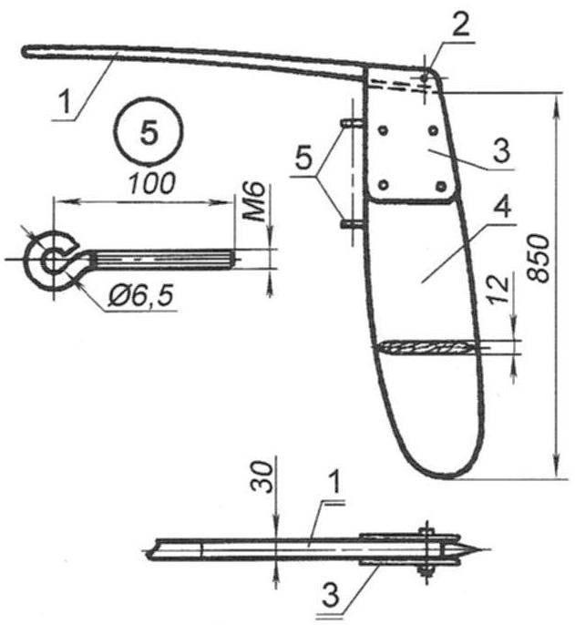 Рулевое устройство швертбота