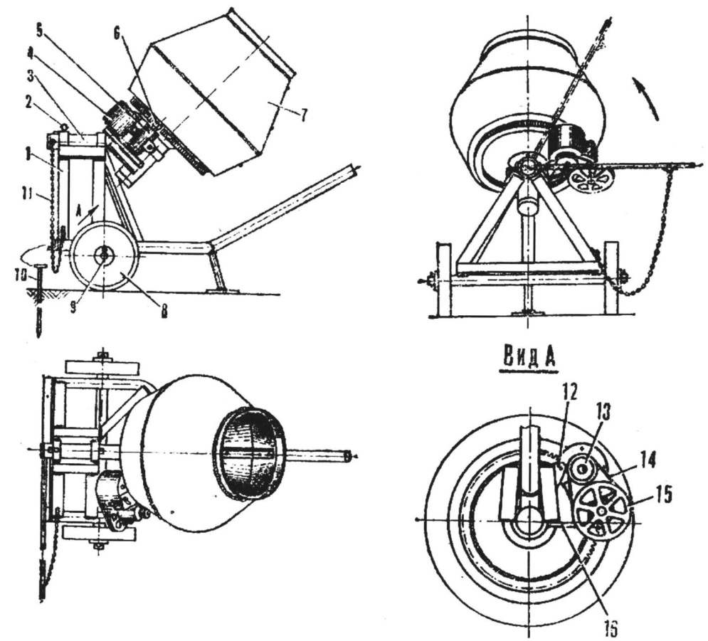 Fig. 1. General view of concrete mixer