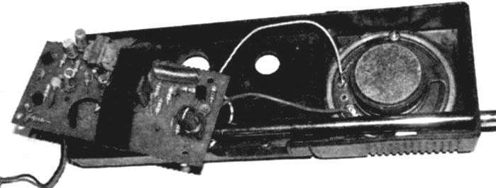 View to the transceiver after completion