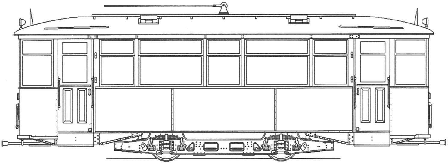 Моторный вагон МС-2, MC-З, МС-4 1930— 1933 годов