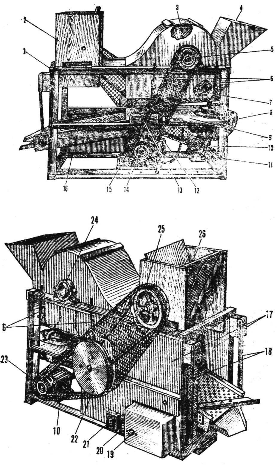 Молотилка-веялка
