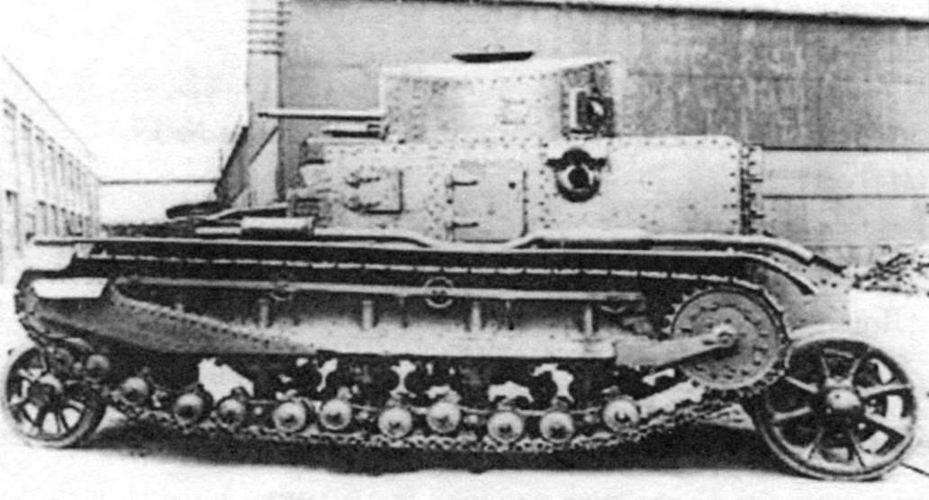 Wheel-track version of the tank MC.I