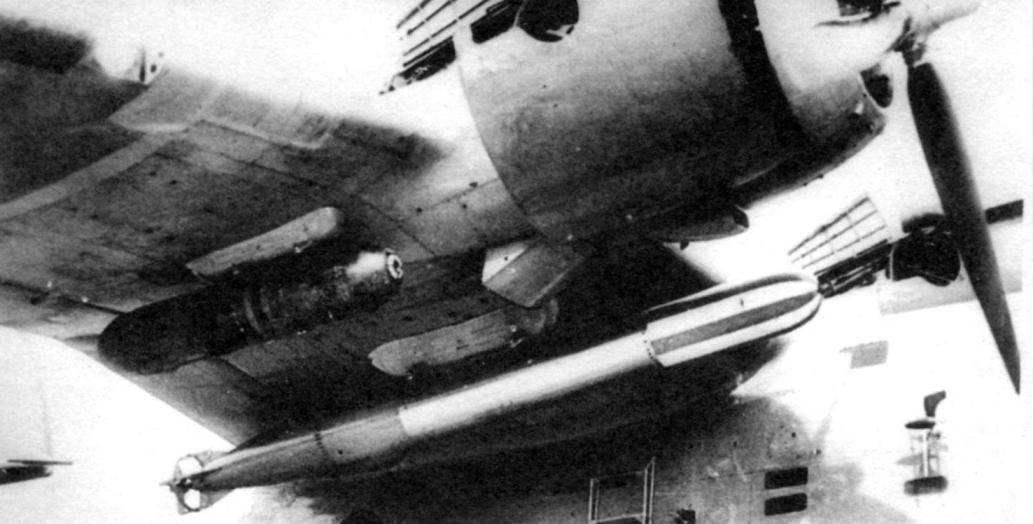 Подвеска торпеды под крылом Бе-6