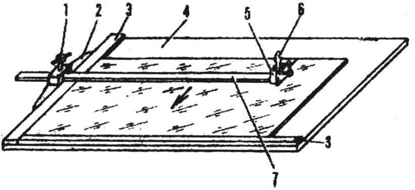 Рис. 1. Приспособление для резки стекла