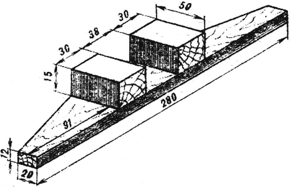 Рис. 4. Направляющая планка рейсшины.