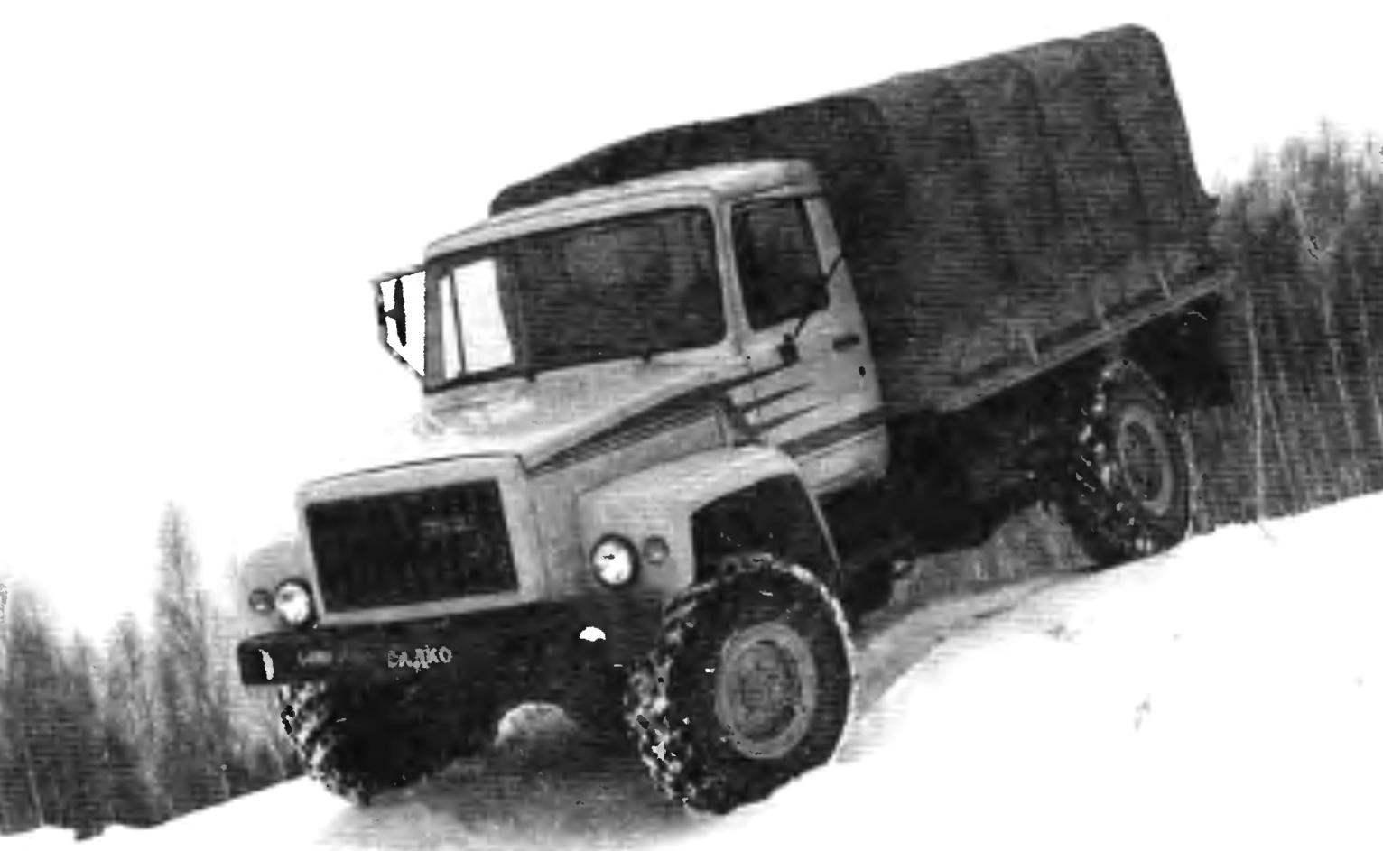 Гражданская модификация полноприводного автомобиля «Садко»