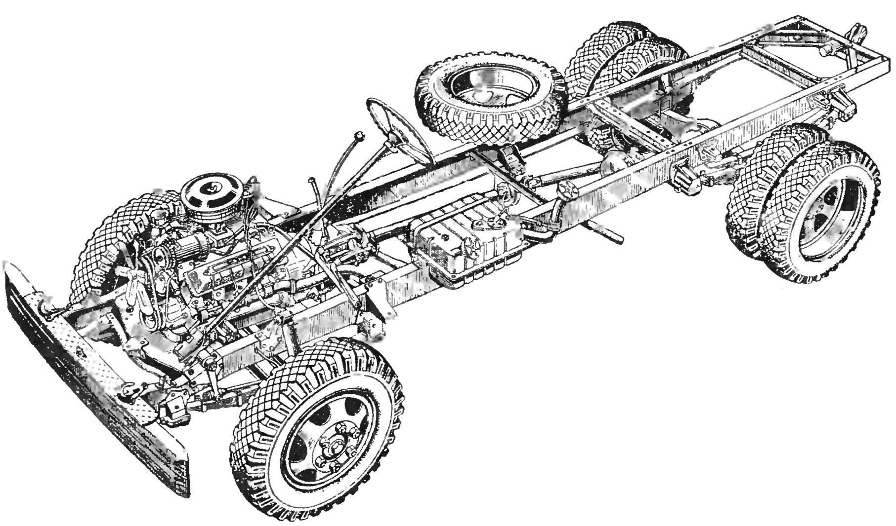 Ходовая часть автомобиля ГАЗ-3307