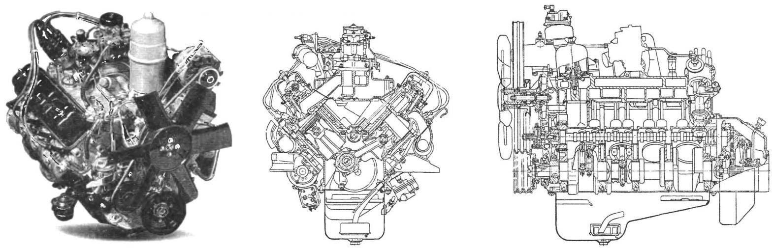 ГАЗ-3307 оснашался 120-сильным 8-цилиндровым бензиновым двигателем ЗМЗ-43-11