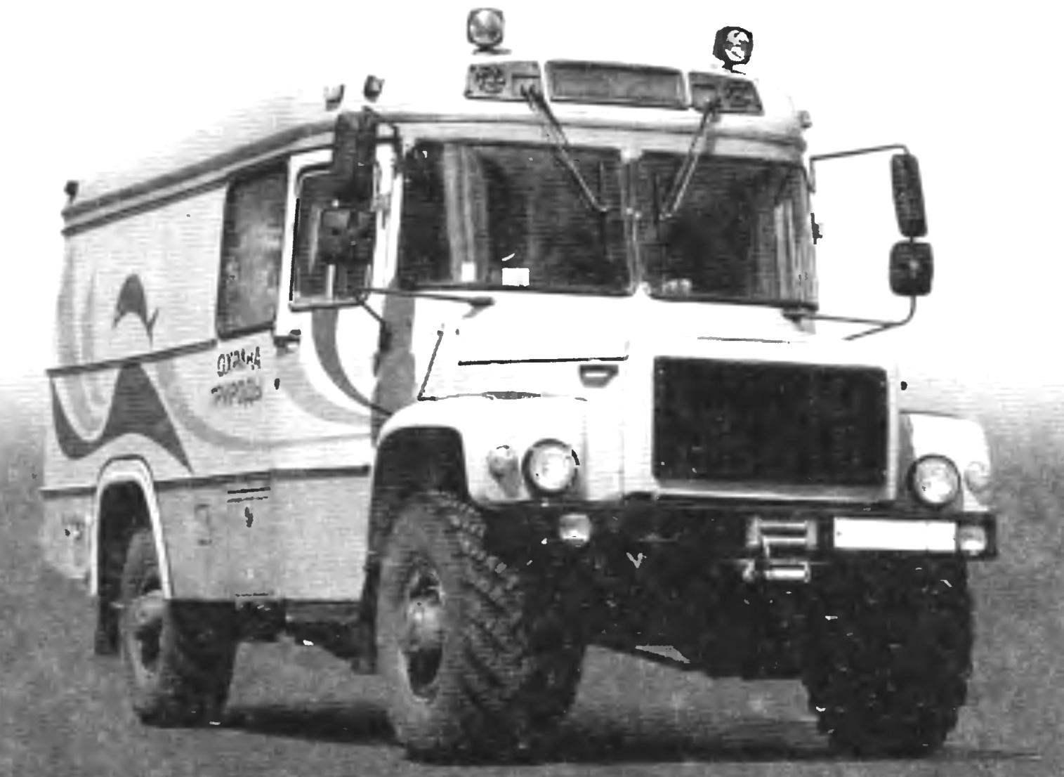 Фургон «Лесник» на базе автомобиля «Садко»