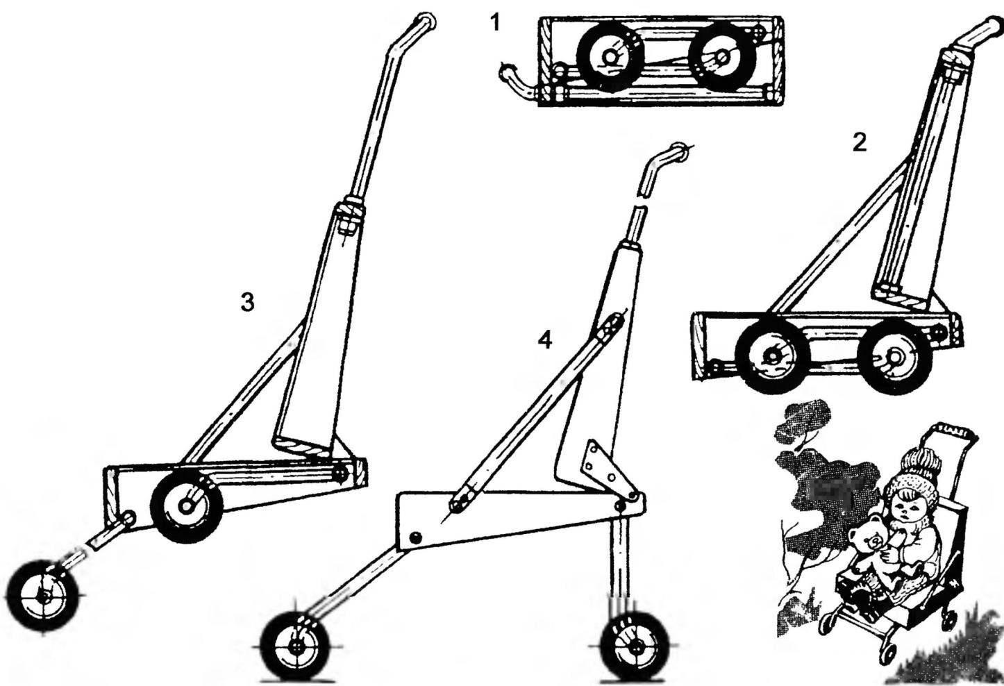 Трансформируемая детская прогулочная коляска