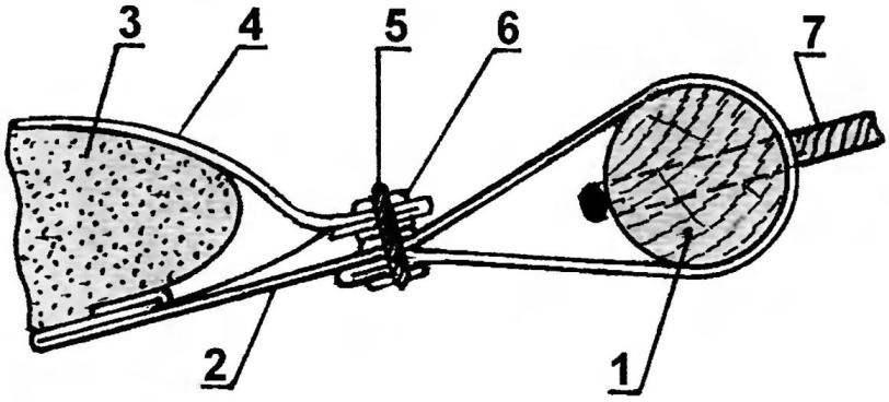 Рис. 4. Торцевой узел гамака в сборе