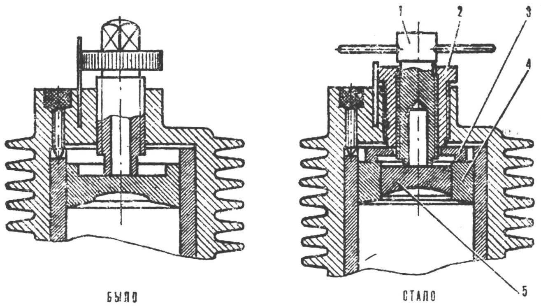 Переделка системы регулирования степени сжатия двигателя КМД-2,5