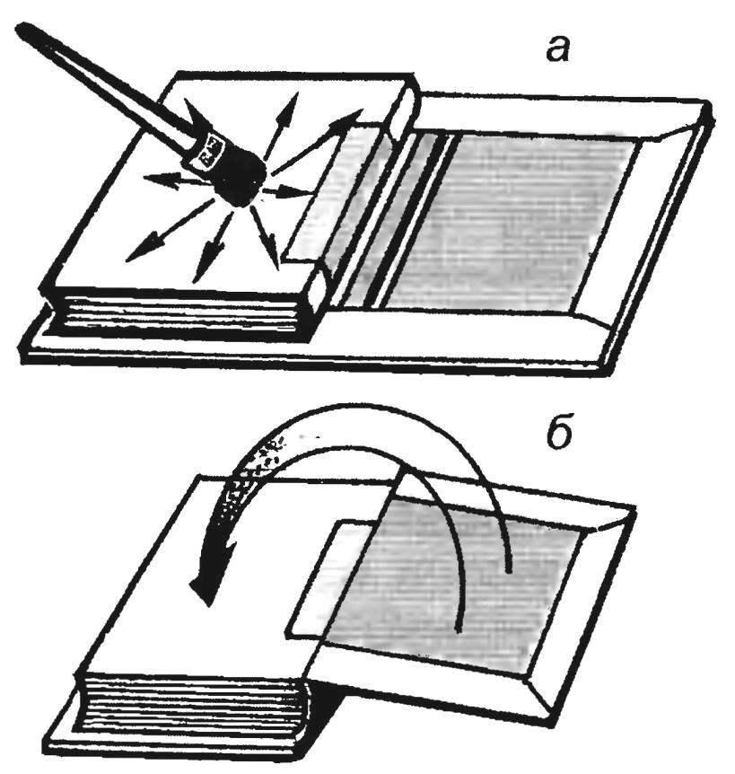 Рис. 13. Оклеивание блока под крышку