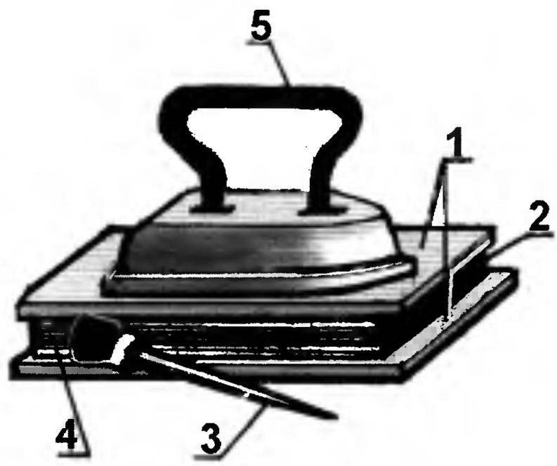 Рис. 6. Проклейка блока тетрадей