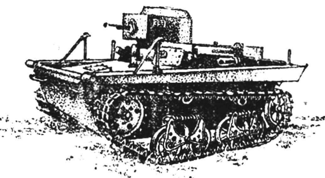 Легкий плавающий танк Т-37.