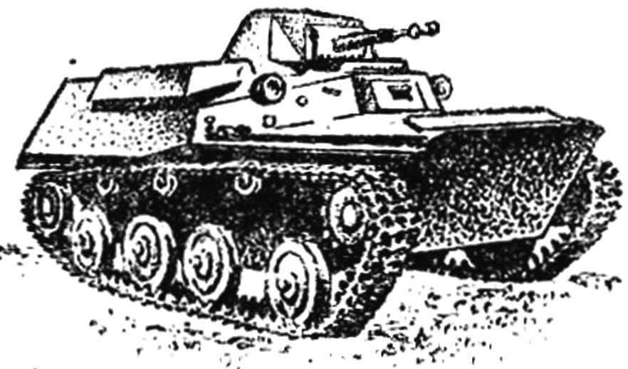Легкий плавающий танк Т-40.