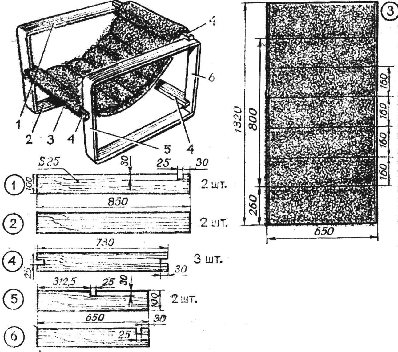 Рис. 1. Кресло рамочной конструкции