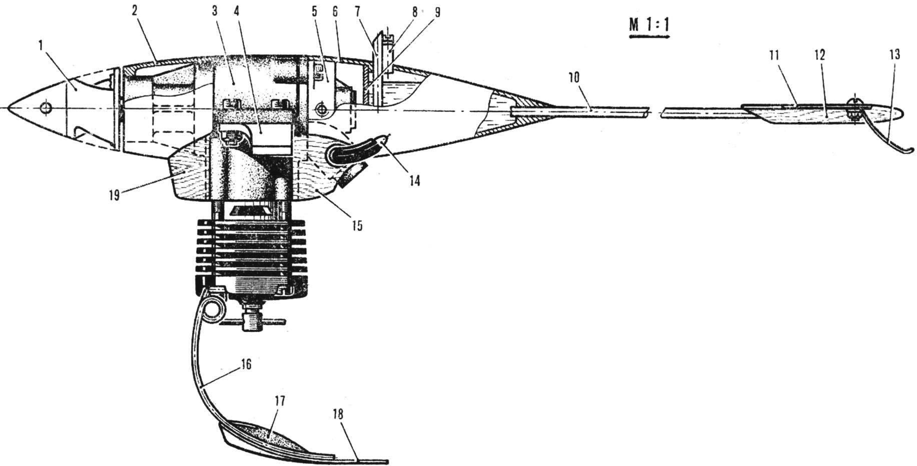 Модель аэросаней И. Перегудова