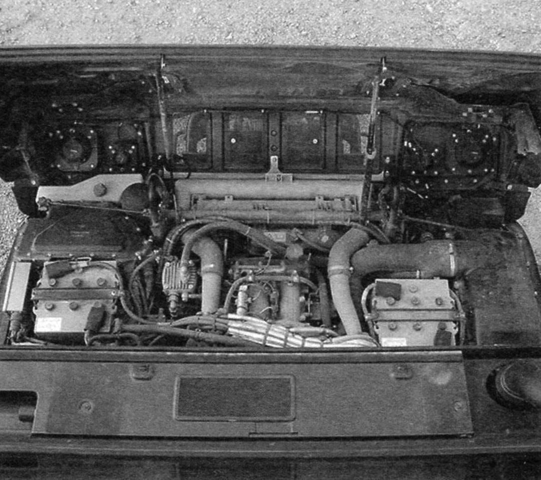 Силовое отделение автомобиля
