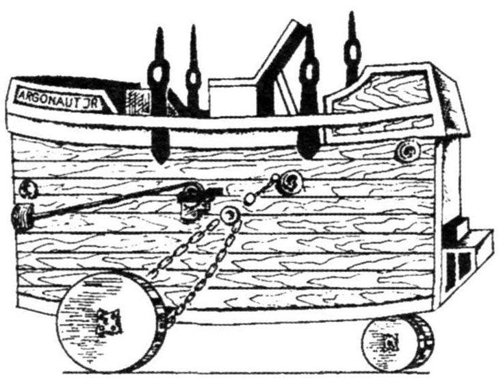 Подводная лодка «Аргонавт Джуниор» конструкции Лэйка, США, 1894 г.