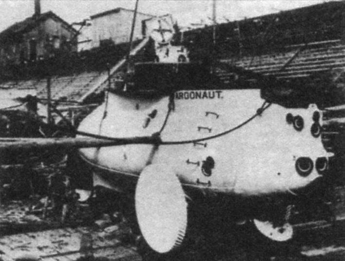 Подводная лодка «Аргонавт-1» конструкции Лэйка, США, 1897 г.