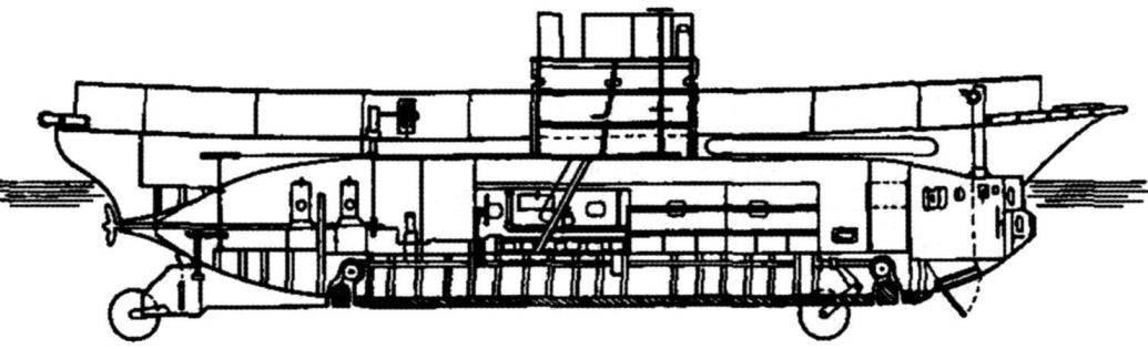 Подводная лодка «Аргонавт-2» конструкции Лэйка, США, 1900 г.
