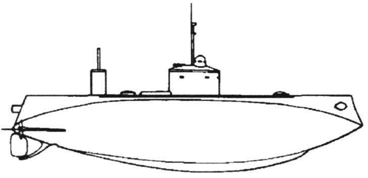 Подводная лодка «Кефаль» конструкции Лэйка, США - Россия, 1905 г.