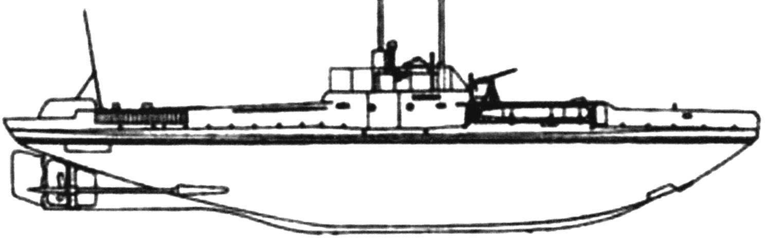Подводная лодка «Кайман» конструкции Лэйка, США - Россия, 1909 г.