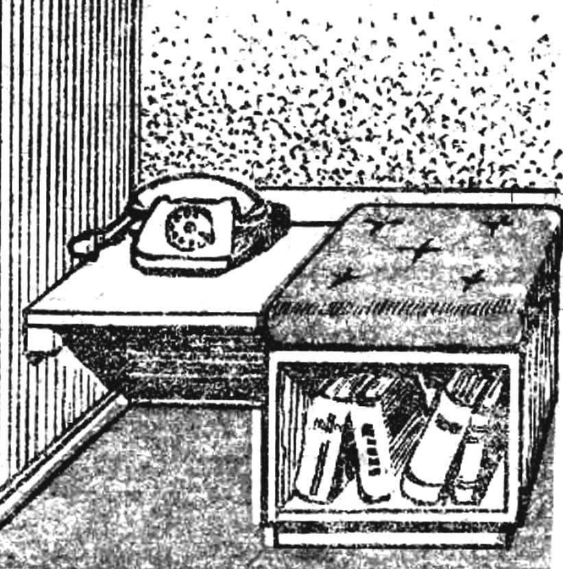 Рис. 6. Шкаф в табурете.