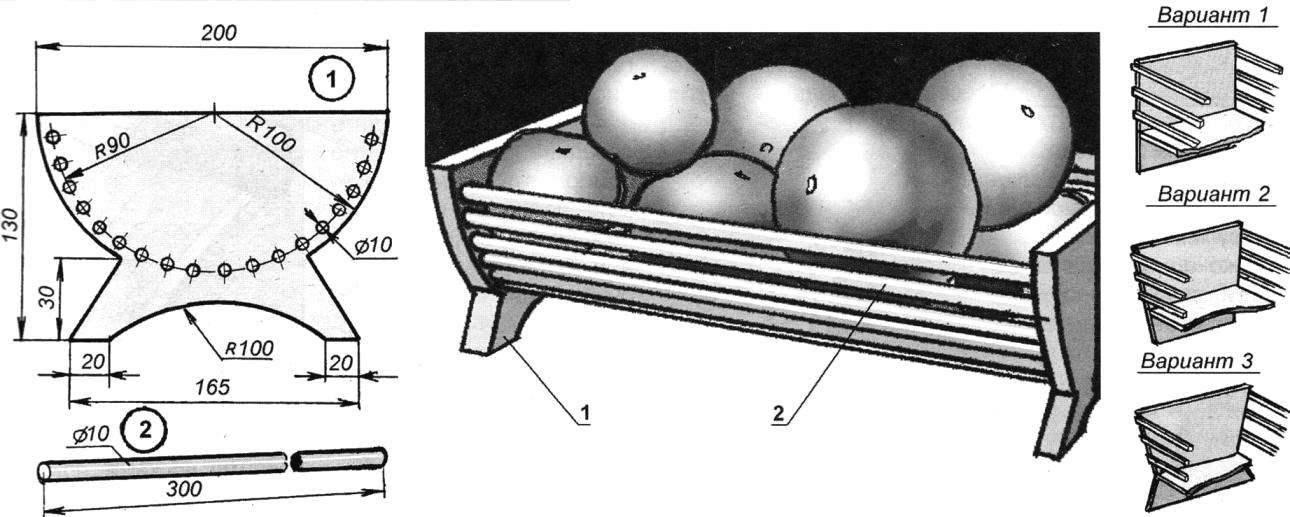 Рис. 3. Корзинка для фруктов
